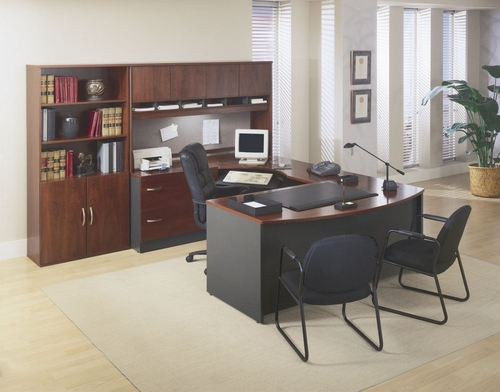 Series C Hansen Cherry Collection - Bush Office Furniture - SC-PKG-6-HC