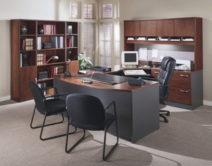Series C Hansen Cherry Collection - Bush Office Furniture - SC-PKG-8-HC