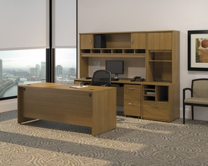 Series C Warm Oak Collection - Bush Office Furniture - SC-PKG-1-WO