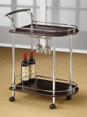 Serving Cart in Cappuccino with Bottle Holders - 910000
