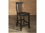 (Set of 2) School House Bar Stool in Black Finish with 24 Inch Seat Height - Crosley Furniture - CF500324-BK