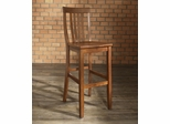 (Set of 2) School House Bar Stool in Classic Cherry Finish with 30 Inch Seat Height - Crosley Furniture - CF500330-CH
