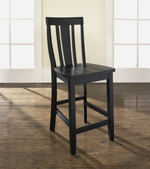 (Set of 2) Shield Back Bar Stool in Black Finish with 24 Inch Seat Height - Crosley Furniture - CF500124-BK