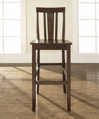 (Set of 2) Shield Back Bar Stool in Mahogany Finish with 30 Inch Seat Height - Crosley Furniture - CF500130-MA