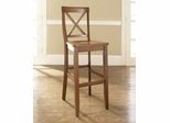 (Set of 2) X-Back Bar Stool in Classic Cherry Finish with 30 Inch Seat Height - Crosley Furniture - CF500430-CH