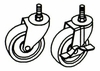 "Set Of 4 Casters, 4"" - Black - OFM - TWC4"