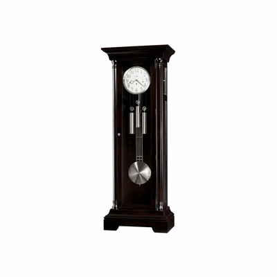 Seville Grandfather Clock in Distressed Black Coffee - Howard Miller