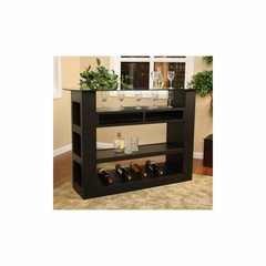 "Shadow 61"" Bar with Glass Top - American Hertiage - AH-600045BLK"