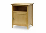 Shaker Natural Nightstand with Door - Winsome Trading - 82115
