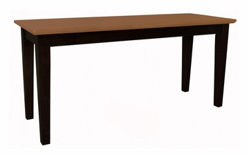 Shaker Styled Bench in Black / Cherry - BE57-39