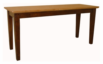 Shaker Styled Bench in Cinnamon / Espresso - BE58-39