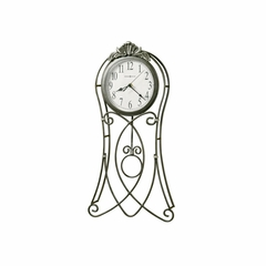 Shannon Metal Wall Clock in Gray - Howard Miller