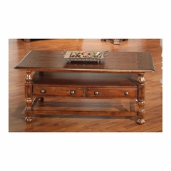 Sherwood Rectangular Cocktail Table with Drawers Antique Oak - Largo - LARGO-ST-T833-111