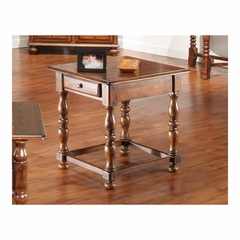 Sherwood Rectangular End Table with Drawer Antique Oak - Largo - LARGO-ST-T833-123