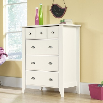 Shoal Creek 4-Drawer Chest Soft White - Sauder Furniture - 411197