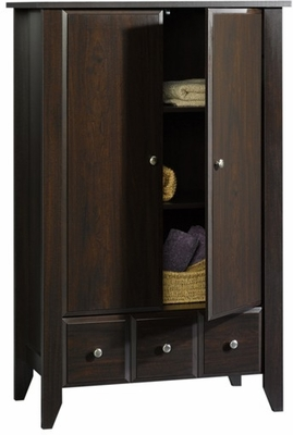 Shoal Creek Armoire Jamocha Wood - Sauder Furniture - 409934