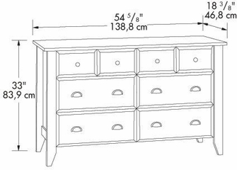 Shoal Creek Dresser Jamocha Wood - Sauder Furniture - 409937
