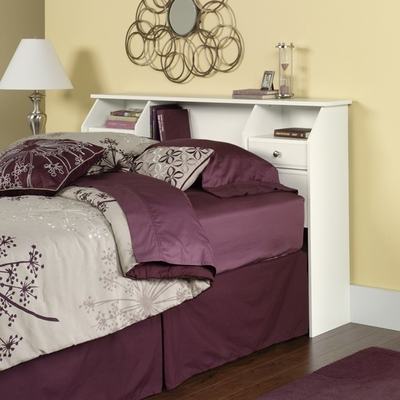 Shoal Creek Full / Queen Bookcase Headboard Soft White - Sauder Furniture - 411205