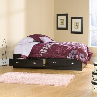 Shoal Creek Mates Bed Jamocha Wood - Sauder Furniture - 412093
