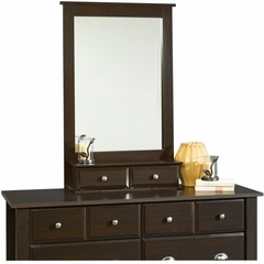 Shoal Creek Mirror Jamocha Wood - Sauder Furniture - 410133