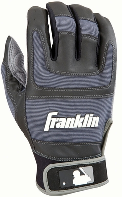 Shok-Sorb PRO Series Adult Batting Glove Black / Gun Barrel - Franklin Sports