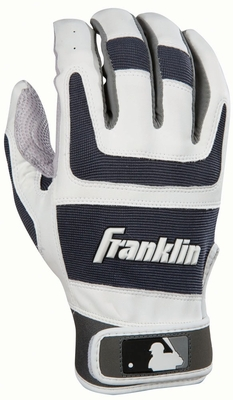Shok-Sorb PRO Series Adult Batting Glove Pearl / Gun Barrel - Franklin Sports