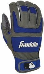 Shok-Sorb Pro Series Home & Away Adult Batting Glove Royal - Franklin Sports