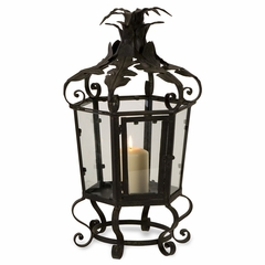 Short Black Iron Candleholder - IMAX - 16123
