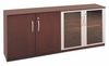 Short Cabinet with Wood/Glass Door in Mahogany - Mayline Office Furniture - VLCMAH