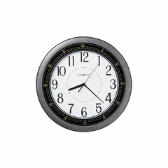 Showtime Wall Clock in Hammered Charcoal - Howard Miller