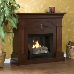 Sicilian Harvest Mahogany Gel Fireplace - Holly and Martin