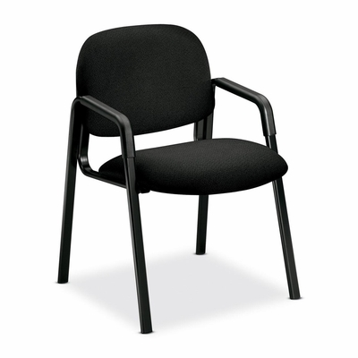Side Arm Guest Chair - Black/Black Frame - HON4003AB10T