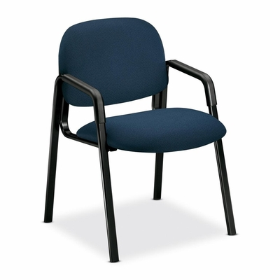 Side-Arm Guest Chair - Blue/Black Frame - HON4003AB90T