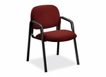 Side-Arm Guest Chair - Burgundy/Black Frame - HON4003AB62T