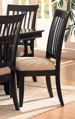 Side Chair (Set of 2) in Cappuccino - Coaster - COAST-11001821-SET