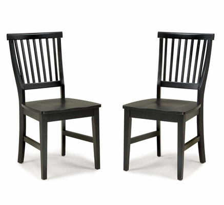 Side Chair (Set of 2) in Ebony - Arts and Crafts - 5181-80