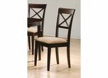 Side Chair with Cross Back Design (Set of 2) in Rich Cappuccino - Coaster
