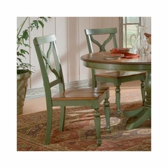 Sidney Green / Light Cherry Side Chair - Set of 2 - Largo - LARGO-ST-D136-41