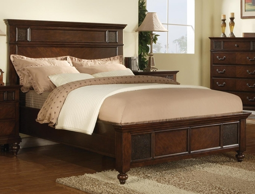 Sidney Platform Style Bed in Dark Cherry - 202061Q