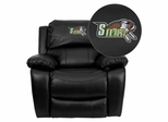 Siena College Saints Embroidered Black Leather Rocker Recliner  - MEN-DA3439-91-BK-41069-EMB-GG
