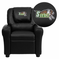Siena College Saints Embroidered Black Vinyl Kids Recliner - DG-ULT-KID-BK-41069-EMB-GG