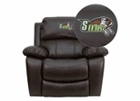 Siena College Saints Embroidered Brown Leather Rocker Recliner  - MEN-DA3439-91-BRN-41069-EMB-GG