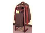 Signature Valet Stand in Mahogany Finish - Proman Suit Valet - VL16158
