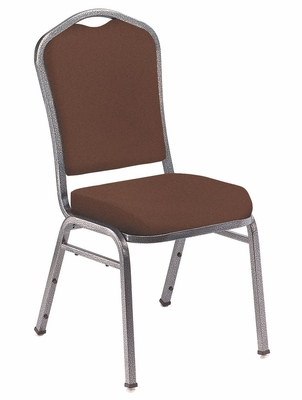 Silhouette Fabric Padded Stack Chair - National Public Seating - 9350