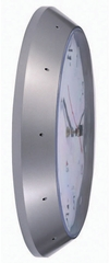 "Silver 11.8"" Diameter ALBA Wall Clock"