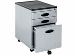 Silver / Black Mobile File Cabinet - Sauder Furniture - 18579