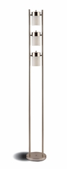 Silver Floor Lamp with White Frosted Shades - 900733