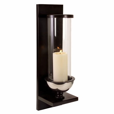 Silver Metal and Glass Wall Sconce - IMAX - 56075