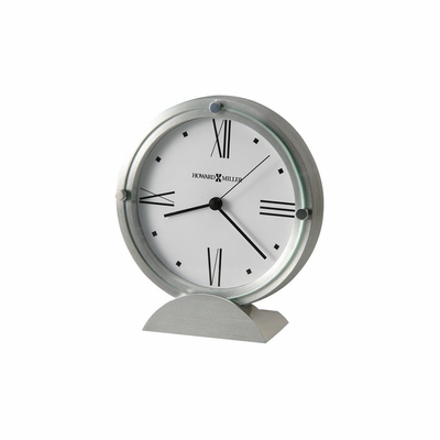 Simon II Brushed Aluminum Table Clock - Howard Miller