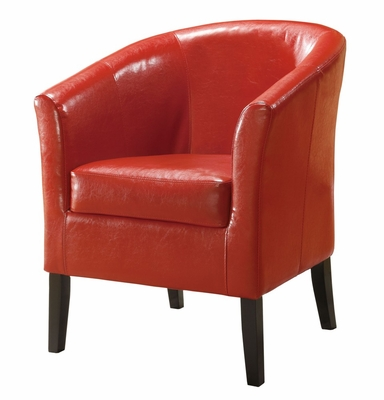 Simon Red Club Chair - Linon Furniture - 36077RED-01-AS-U